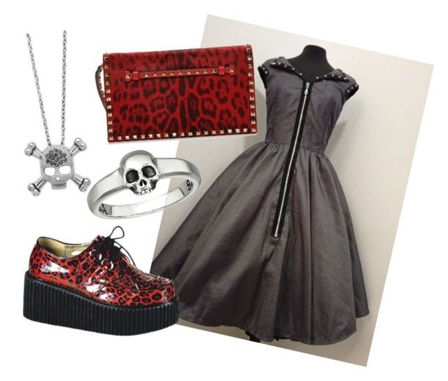 """""""Rockabilly 2"""" by ticci-1 on Polyvore featuring King Baby Studio, KC Designs and Demonia"""