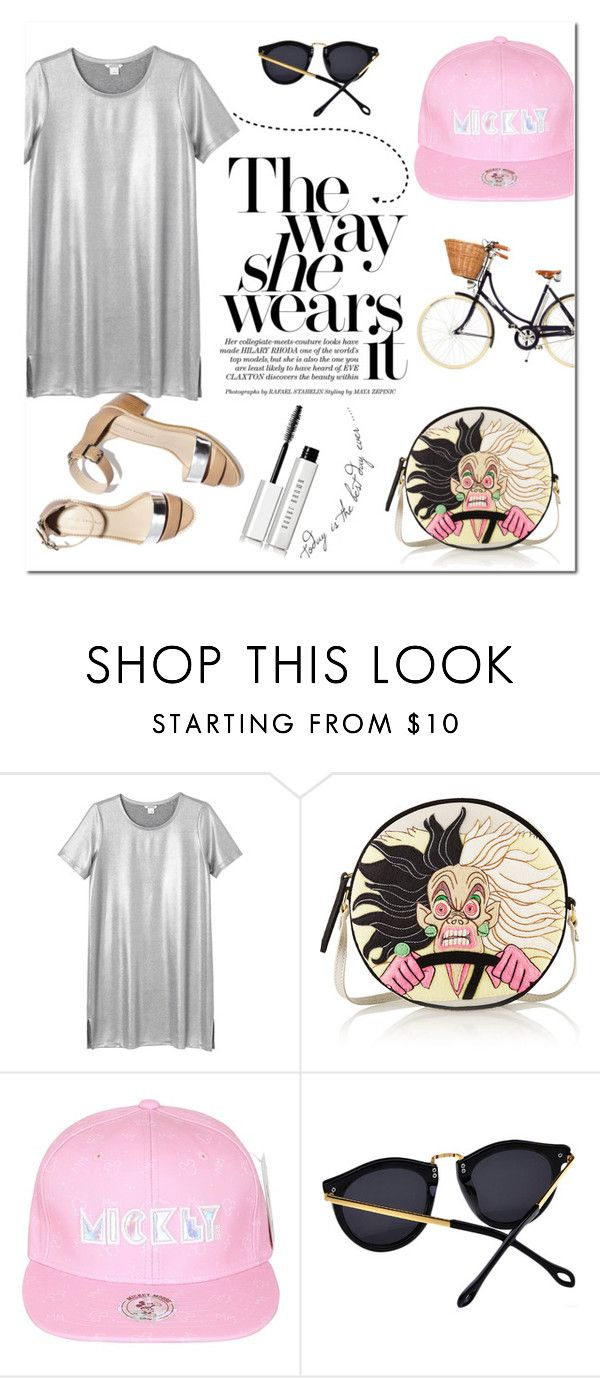 """The Way She Wears It: Baseball Caps"" by alexandrazeres ❤ liked on Polyvore featuring Monki, Olympia Le-Tan, Disney, Bobbi Brown Cosmetics, baseballcap and baseballhats"