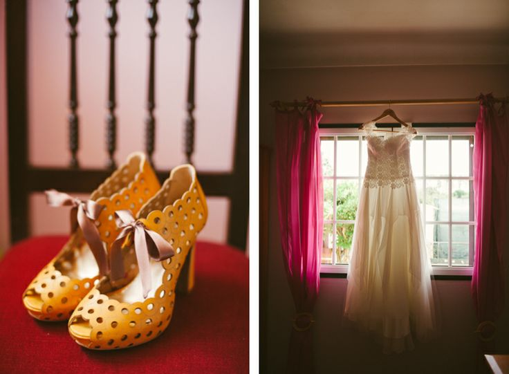 I would love to get these lovely girly shoes! Vanessa's dress and lovely shoes on our blog: http://www.fotografamos.com/2014/03/19/vanessa-luis-wedding-in-tentugal/
