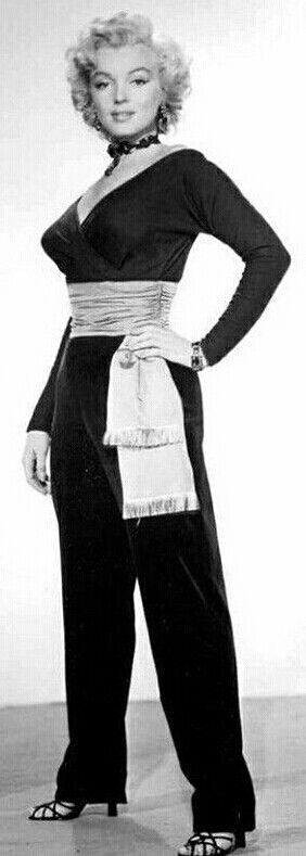 "Marilyn in a costume test for ""Gentlemen Prefer Blondes"", 1952."