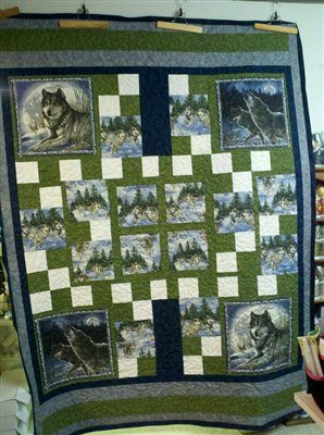 Susie's Wolf Quilt - Quilters Club of America