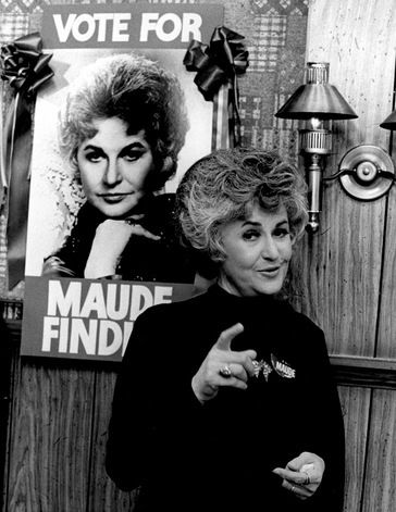 Bea Arthur as Maude....saw her at the taping of her TV show in Burbank, CA