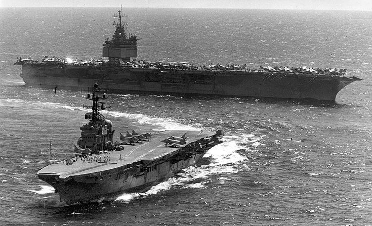 "HMAS Melbourne and the Big ""Enterprise""."