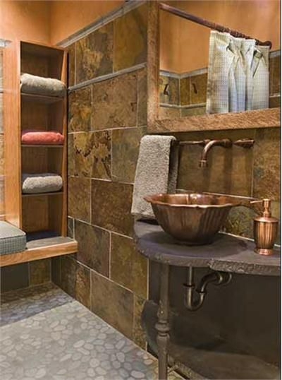 Country/Rustic (Country) Bathroom by Susan Brown