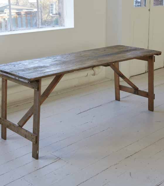 Wooden Trestle Table 6 foot