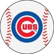 Show your passion for the Chicago Cubs through your home décor Baseball Mat. This baseball-shaped area rug is made with 100% nylon and features a recycled non-skid vinyl backing. and officially licens