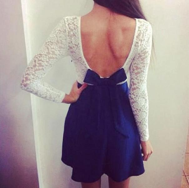 white with navy blue <3