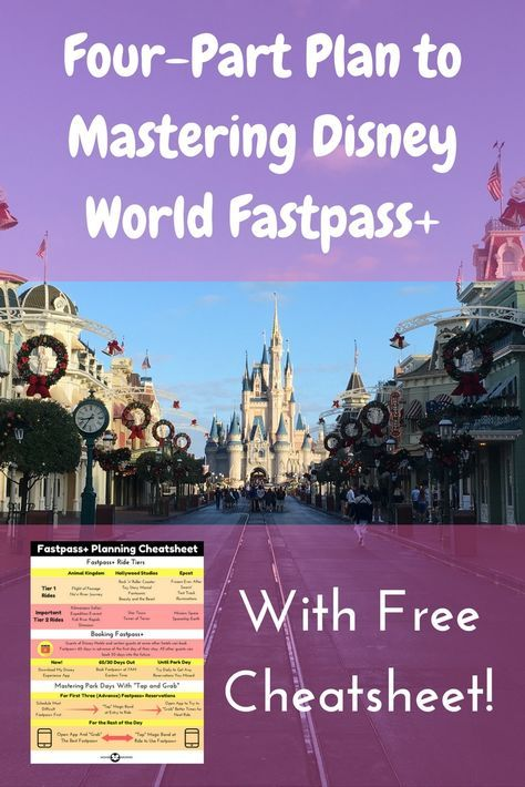 Master Disney World Fastpass+ with our four-part strategy, including a free cheatsheet! Take your family vacation to a new level!