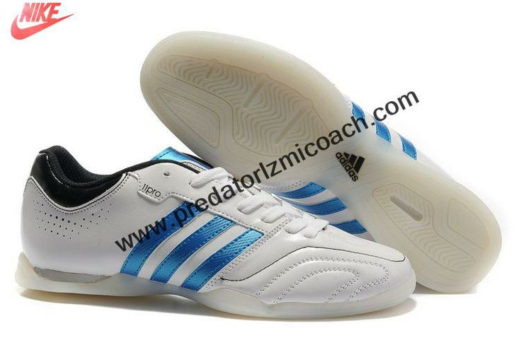 New Adidas adipure 11Pro TRX IC - Running White-Bright Blue-Black Soccer Boots For Sale