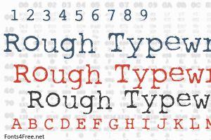 Rough Typewriter Font