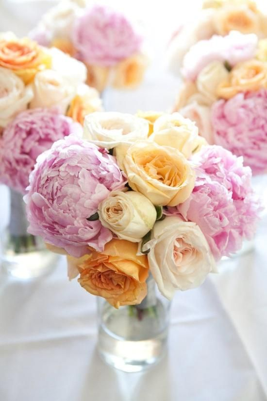 Pair soft Peony Pink with yellows and creams for a twist on pink wedding. #PeonyPinkWedding