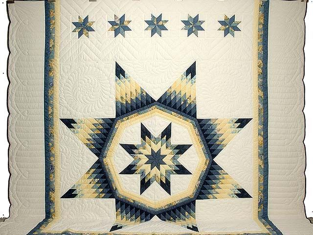 왕 해군 블루와 메릴랜드 이불의 노란색 로얄 스타 사진 2