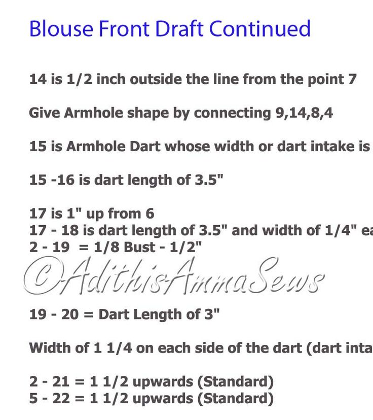 Adithis Amma Sews - Cute Confessions of a Sew Addict: Saree Blouse Pattern Draft 1 - Enjoy