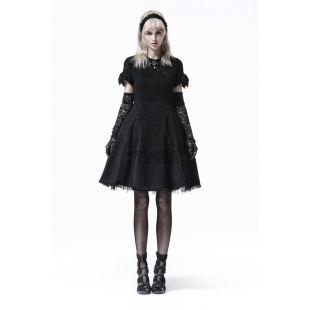 Pequeño vestido negro gótico Ref. LQ-069-BLACK-F.S PunkRave