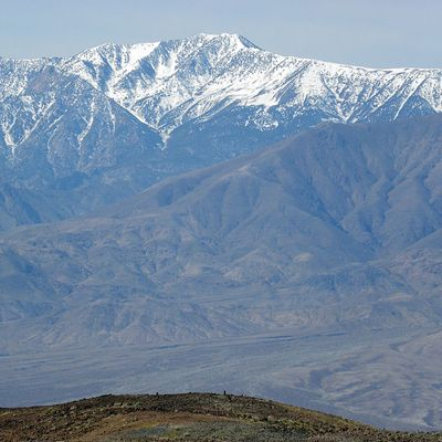 I've climbed this mountain to the tippy top.. and the view is spectacular.  Telescope Peak Viewed From Devil's Golfcourse
