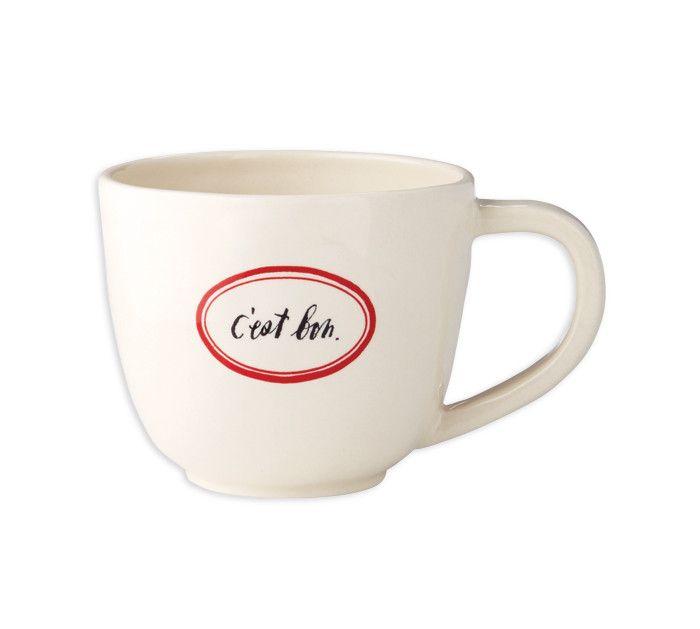 Rae Dunn French Latte Mugs - Set of 4