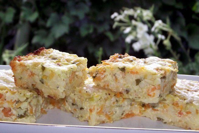 Retete Culinare - Budinca de couscous cu dovlecel si morcov