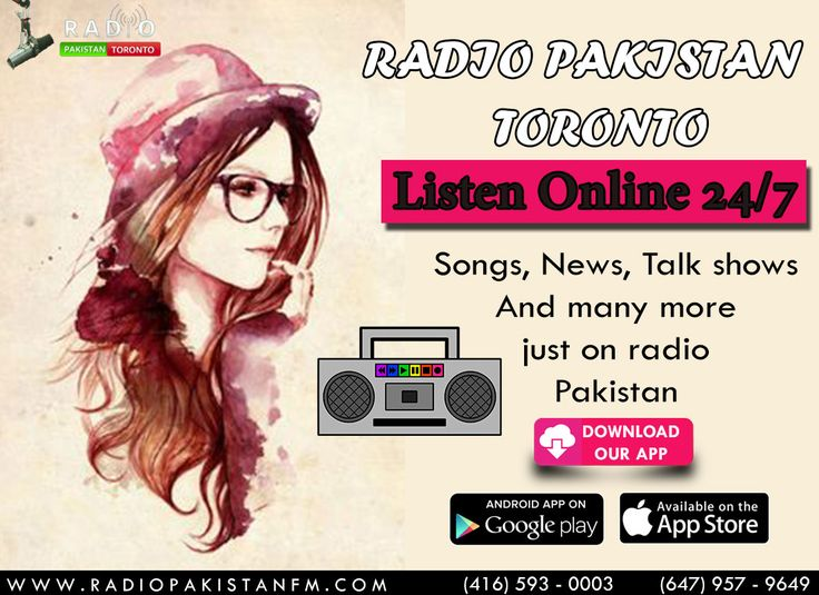 "Turn Your Head Phones On & Enjoy Our Shows Only On Radio Pakistan Toronto With Our Famous RJ's, You Can Also Suggest Any Music Or Discussion On Our Toll-Free Number 416-593-0003! Log on to http://www.radiopakistan.fm/ and Enjoy Quality Entertainment 24/7. *** Listen on your Smartphone by Downloading our app: Android Device @ https://goo.gl/tq1VDm iPhone @ http://goo.gl/TQlv2G Tunein - ""Radio Pakistan Toronto"" or Simply Search ""Radio Pakistan Toronto"" in the app store! *** **** Listen by C"
