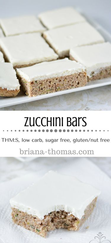 Zucchini Bars...they're healthy, low carb, sugar free, and gluten/nut free.  A healthy rendition of one of our family favorites!