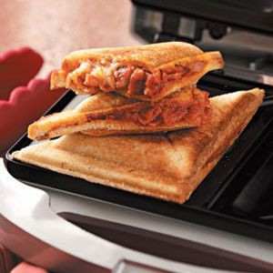 Grilled pizza sandwiches - These are the best.  @Lyndsey Shelley and I love these.  We've been making them for years!