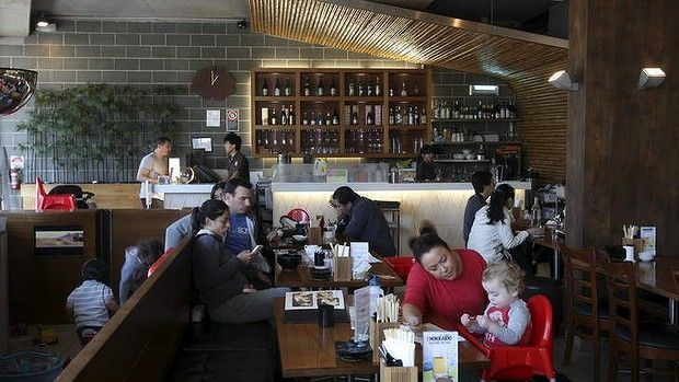 Family friendly ... There's a play area at Japanese restaurant Kokoroya in Maroubra.