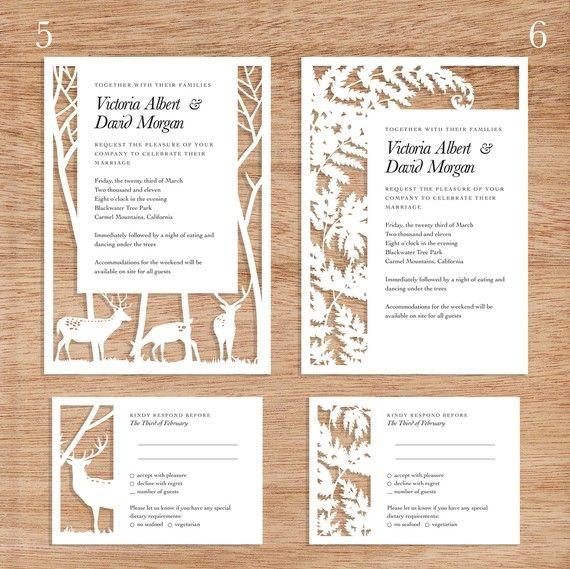 Really nice... paper cut wedding stationery suites, by The Time is Now