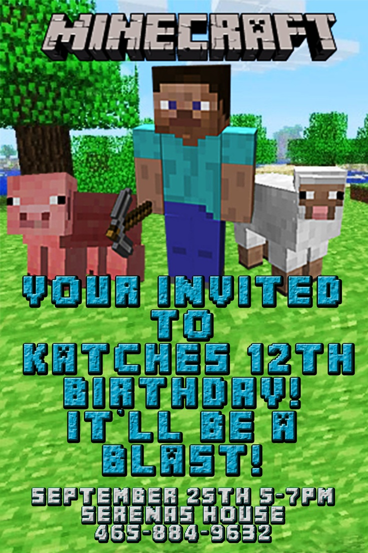 59 Best Party Minecraft Images On Pinterest Birthday