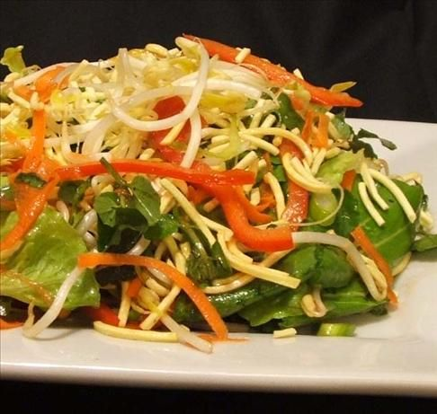 Crispy Noodle Salad With Sweet and Sour Dressing