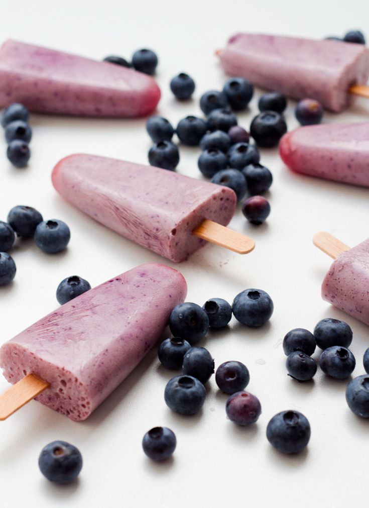 Healthy and easy - Blueberry Yogurt Popsicles