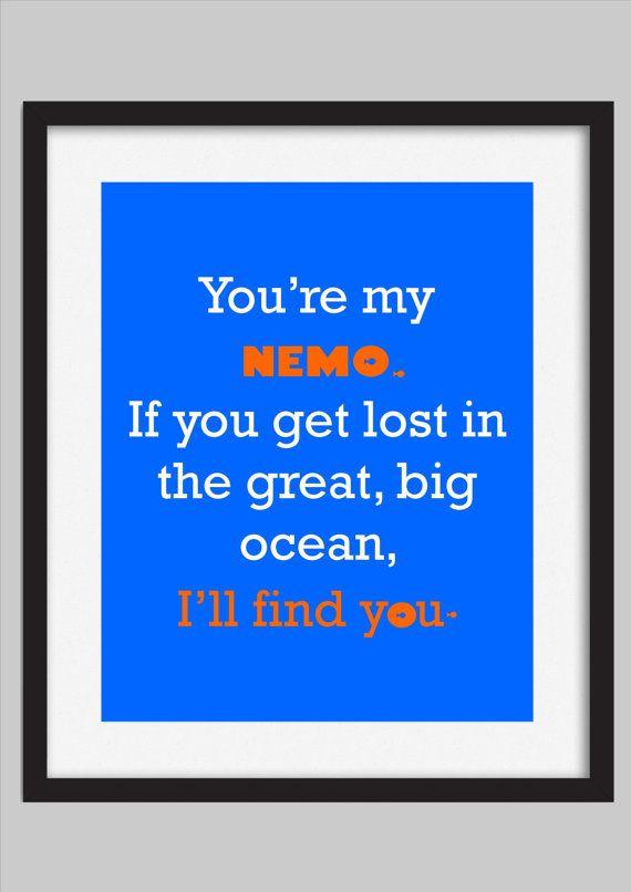 Finding Nemo Disney Quote Kids Decor Print by WalkerPhotoInvites, $5.00