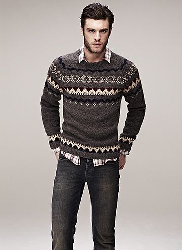 Cottage look Layering Sweaters men - http://amzn.to/2hM9HTm