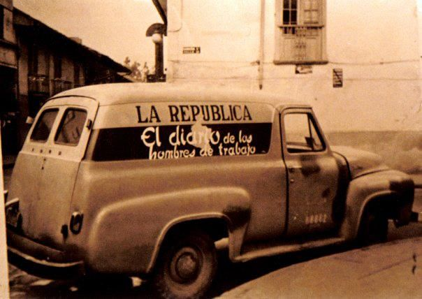Diario La República Cra 5a y Calle 20 - 1958 - (Ford Panel 1955)