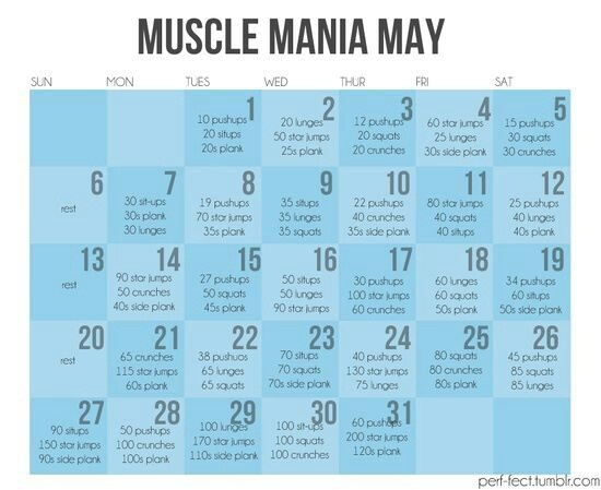 Month workout challenge