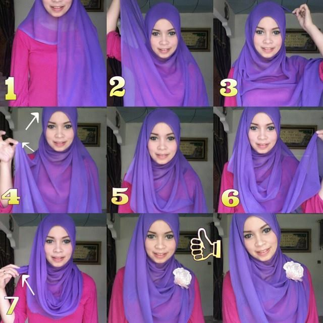 Basic Full Coverage Hijab Tutorial With A Brooch #boutique #estilistanboutique #cosmetics #beauty #jewellery #nailpolish