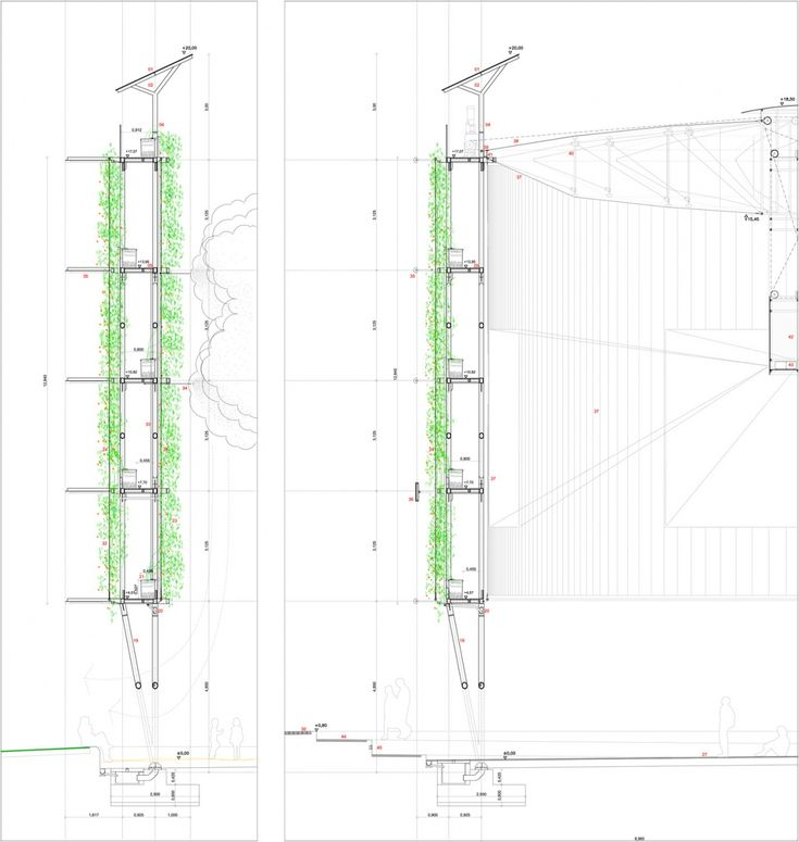 eco boulevard in vallecas green wall detailed section 02