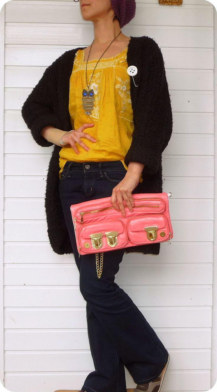 SAM FRENZEL für P&C XXL Leder Clutch Tasche Handtasche Handtasche Leather Bag in Kleidung & Accessoires, Damentaschen   eBay