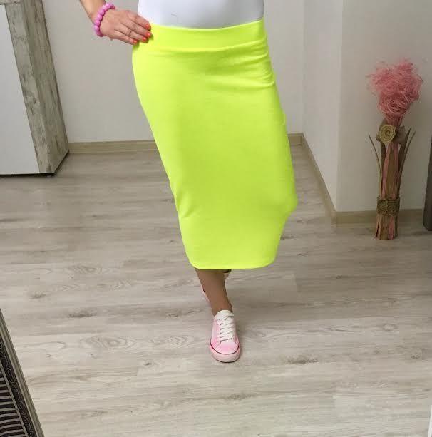 Tepláková sukňa neon