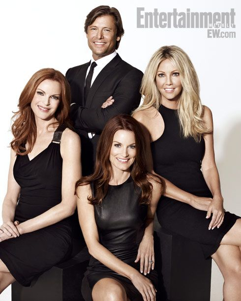 Melrose Place (1992-99)    Marcia Cross, Grant Show, Laura Leighton, and Heather Locklear    ''I thought it was funny that when the apartment exploded there was a cell phone in my boot that I could use to call for help. We all survived and then moved back in there, as if there was no other place we could live. We all hated each other, but we still mingled at the pool. Somebody move already!'' —Locklear