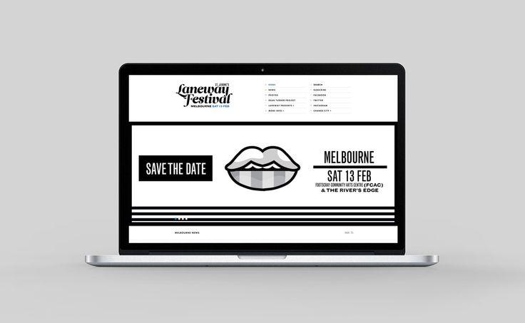 St Jerome's Laneway Festival - Freelance Melbourne Digital Website Designer, UI Designer, Responsive Website Designer Melbourne