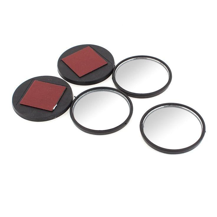 Unique Bargains 52mm Dia Black Round Wide Angle Car Blind Spot Rear View Mirror 5 Pcs