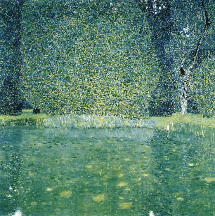 Gustav Klimt - The Park of Schloss Kammer, ca, 1910 Osztrák festőművész, a szecessziós stílus egyik legismertebb képviselője http://hu.wikipedia.org/wiki/Gustav_Klimt