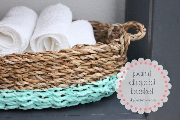 Paint Dipped Basket - 27 Briliant DIY Home Decor Projects That Will Make Your Home Unique