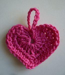 tuto cœur au crochet                                                                                                                                                                                 Plus