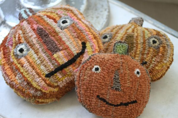 These hooked pumpkins are too cute!