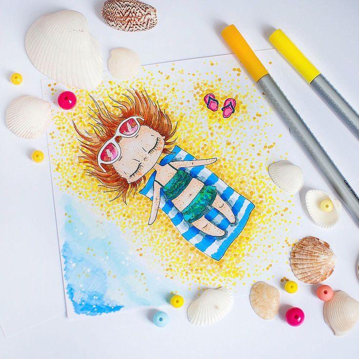 52 отметок «Нравится», 1 комментариев — Nastya Kim (@by_nastya_kim) в Instagram: «Доброе утро, жаркое лето! ☀️ Загорать не люблю, но мои девчушки любят солнце, пляж и море!…»