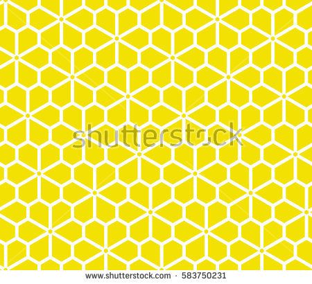 Seamless floral vector pattern. Yellow and white background. Graphic modern pattern