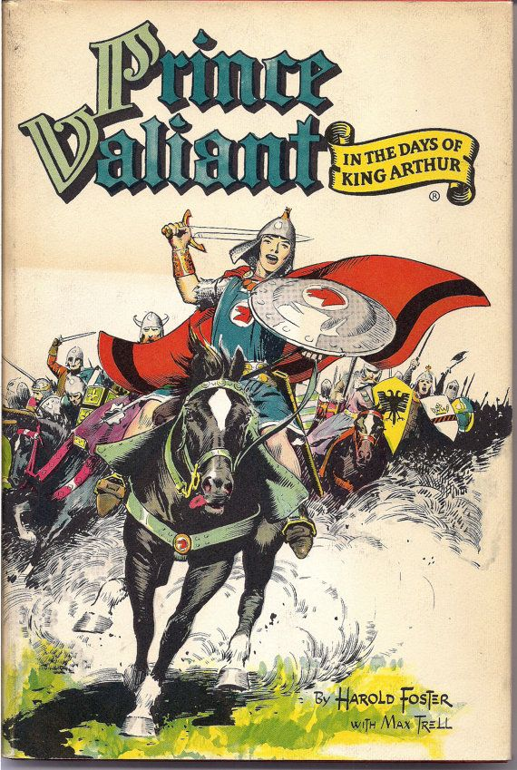"""PRINCE VALIANT in the Days of King Arthur 1951 HARDCOVER BOOK in original Dust Jacket. Art by Harold """"Hal"""" Foster published by Hastings House and available, as well as many other Hal Foster, Prince Valiant & Tarzan titles at QualityComicsAmerica"""