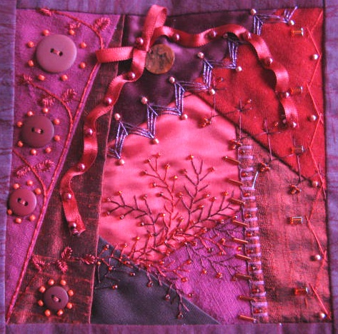 I ❤ crazy quilting by Heather B., Canada Look at the Ribbon work