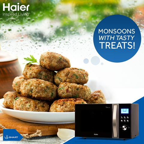 Enjoy monsoons munching away tasty eat treats. #Haier #Microwaves allow you to cook a variety of snacks with its range of cooking functions.