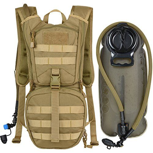 c6061d3437f0 MARCHWAY Tactical Molle Hydration Pack Backpack with 3L TPU Water ...